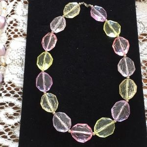 Jtv crystal looking multi color beaded necklace